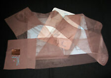 "BAS PJ T 4 (83 cm) USA ""MUNSINGWEAR"" MARRON NYLON LISSE LINGERIE VINTAGE SEXY"
