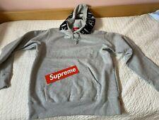 "Felpa Supreme ""Mirrored logo Hooded Sweatshirt"" Taglia M Nuova Heather Grey"