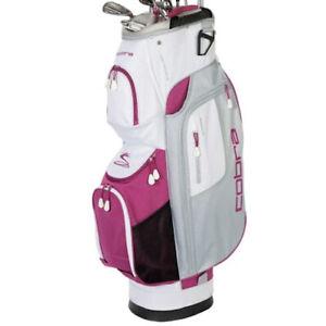 Cobra Fly XL Ladies Cart Bag - White / Grey / Purple