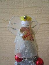 Vintage Angel Spun Cotton Head&Mercury Bead&Wire Nylon Dress Christmas Ornament