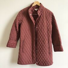Garnet Hill Maroon everyday car coat quilted