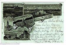 Gruss aus Cüstrin Kostrzyn-nad-Odra AK 1899 Mehrbild Litho Polen Polska 1508235*