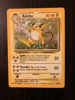 Raichu 14/102 Holo Rare Base Set Pokemon Card