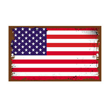 Us Flag Vintage Novelty Funny Metal Sign 8 in x 12 in