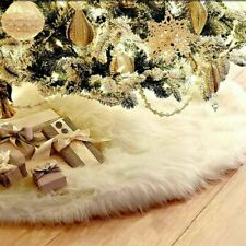 Large White Plush Mat Christmas Tree Skirt Party Snow Mat Cover Home Party Decor