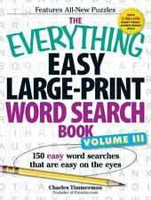 Easy Large-Print Word Search Book Vol. 3 : 150 Easy Word Searches That Are...