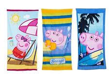 Kids Peppa Pig Towel Summer Swimming Beach Bath Towel George Girls Boys Children