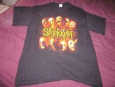 BLACK SLIPKNOT T SHIRT - DESIGN FRONT & BACK -  HARDLY WORN  - SIZE L