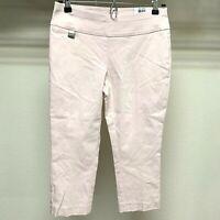 Womens Alfani Petite Tummy Control Capri Pants Peach Pull On Stretch Size 4P NWT