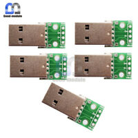 5PCS 4 pin USB to DIP Adapter Converter for 2.54mm PCB Board Power Supply DIY