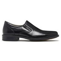 Mens Julius Marlow Melbourne Black Leather Slip On Dress Work Formal Shoes