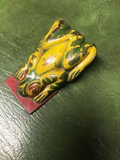 Vtg Tin Litho Frog Clicker Noise Maker