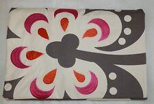 John Lewis Lalia Standard Pillowcase Pink Floral Embroidered 100% Cotton