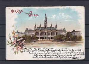 Lithographie Wien gelaufen 1898 nach Olmütz ANSEHEN