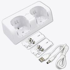 Wii U Ladegerät Ladestation +2x Akku Pack Ersatz Akkus für Wii Remote Controller
