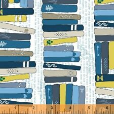 By 1/2 Yard Windham Fabric Literary On the Shelf Adventure ~ Library Books Read