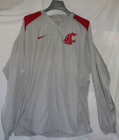 Washington State Cougars Mens Nike Cage Pre Game Warm Up Baseball Jacket Sz L