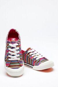 Rocket Dog Womens Jazzin Aloe Stripe Pumps Multi Colour:shoes UK 6 EU 39