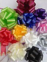 10 Mixed Pull Bow Ribbons Wedding Gift Wrap Florist Hamper Basket Choose Colours