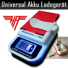 Universal Handy Akkuladegerät LCD-Display USB-Anschluss 12V KFZ Ladekabel