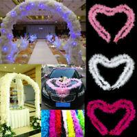 1Pc Fluffy Feather Strip Fancy Dress Wedding Party Site Car Decor Garlands Acces