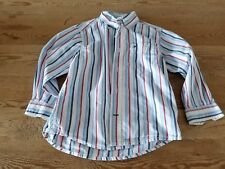 Tommy Hilfiger toddler boy size 3T blue striped oxford button long sleeve shirt