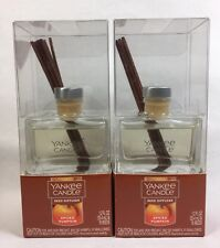 SPICED PUMPKIN Yankee Candle MINI Glass REED Diffuser 2 bottles 1.2 fl oz NEW