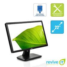 """Dell E2213H 22"""" Widescreen 1680x1050 16:10 Backlit LCD Monitor VGA DVI Grade A"""