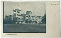 Postcard Redlands CA Casa Loma Hotel Street View Balloon Route 1900's Undivided