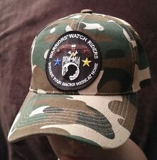 Warriors Watch Riders USA Veterans & USA Supporters Camouflaged Baseball Cap