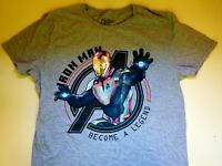 Marvel Avengers Ironman Become a Legend T Shirt Gray  Large New Free Shipping