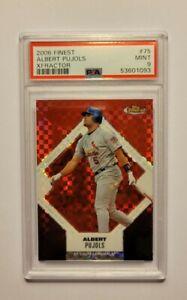 2006 Finest Albert Pujols Xfractor #75 PSA 9 Cardinals
