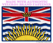 BRITISH COLUMBIA FLAG PATCH CANADA BC CANADIAN w/ VELCRO® Brand Fastener