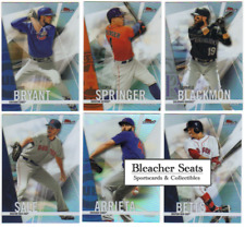 2017 Topps Finest Baseball - Refractor Parallel Cards - Pick From Card #'s 1-100