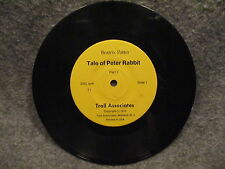 "33 RPM LP 7"" Record Beatrix Potter Tale Of Peter Rabbit 1979 Troll Associates T1"