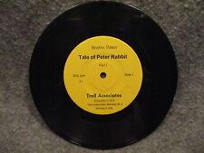 "33 RPM LP 7"" Record Beatrix Potter Tale Of Peter Rabbit 1979 Troll Associates T1"