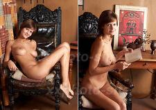 Two (2) Artistic SEXY PHOTO Print 8.25x11.75 LEA pose in studio #0965, 0970