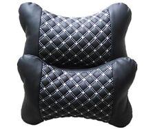 2 x Car Neck Pillow Van Lorry Seat Black Headrest Back Head Support Cushion AC57