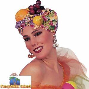 CARMEN MIRANDA ICON FRUIT HAT Womens Ladies Fancy Dress Costume Accessory