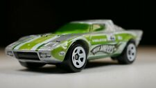 Loose Hot Wheels Lancia Stratos Car Silver  - 5sp White Green Windows