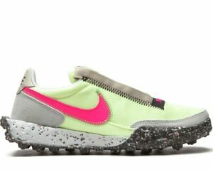 """NIKE WAFFLE RACER CRATER """"BARELY VOLT"""" SNEAKERS WOMEN SHOES CT1983-700"""