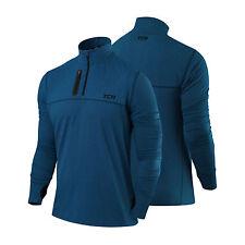 Men's TCA Fusion Soft QuickDry Long Sleeve Half-zip Running Top Jacket Jersey M Blue