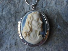 JESUS CAMEO LOCKET NECKLACE - CHRISTMAS, EASTER, GIFT, RELIGIOUS, GOD, QUALITY