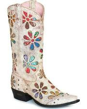 Miss Macie Women's Whoop Si Daisy Cowgirl Boot - Snip Toe - U6025-01