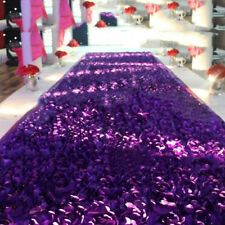 Long Carpet Flower Stage Floor 3D Wedding Rose Flower Washable Durable New MWT