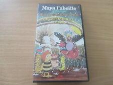 cassette vhs maya l'abeille maya et liline sous la pluie & maya et la libellule