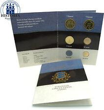 Estland 11,80 Krooni 1992 - 2003 Stgl. KMS 2004 vorm Euro im Folder