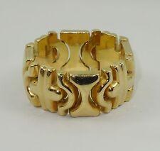 CHIC VINTAGE 80's FAMOUS DESIGNER INSPIRED SOLID 18K GOLD LINK RING ~sz 8.5