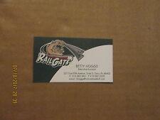 Gary Southshore Railcats Vintage Logo Baseball Business Card