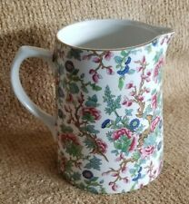 """Vintage Lord Nelson Pottery England Indian Tree Pitcher Carafe Chintz 4.75"""""""